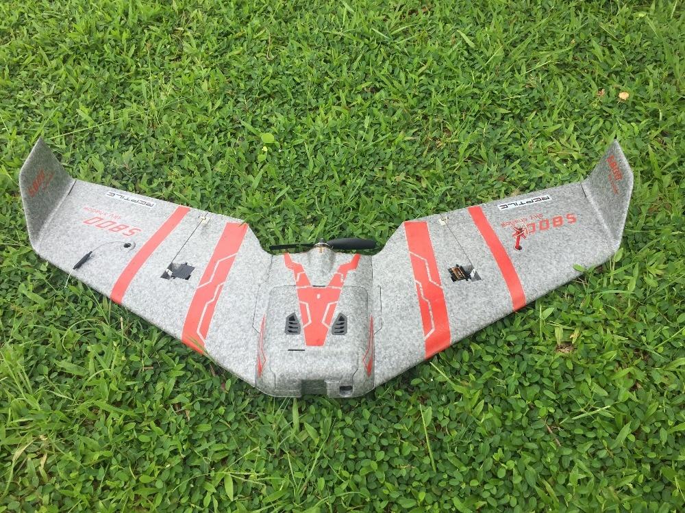 Reptile S800 V2 SKY SHADOW 820mm Wingspan Gray FPV EPP Foam Flying Wing Racer KIT / PNP selection weight 170g only reptile s800 sky shadow mini fpv epp 820mm wingspan rc airplane