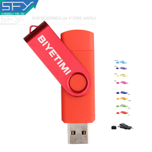 BIYETIMI Usb Flash Drive Real Capacity OTG External Storage 4G8G16G32G64G Pen Drive Pendrive Memory Usb Stick For Andriod