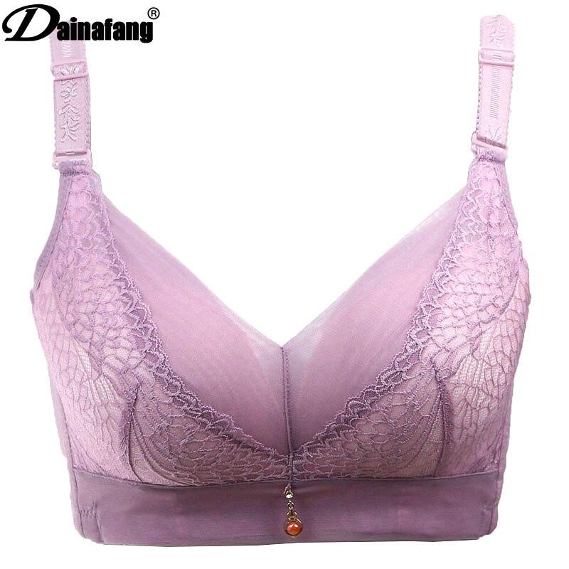 c6c63bda1 DAINAFANG Camisa Grande Push up grande E xícara sutiãs F copo rendas lingerie  lingerie 105 lingerie 110 grand muffers sostenes em Sutiãs de Roupa  interior ...