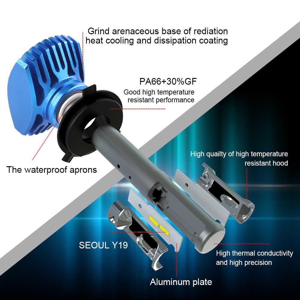 BraveWay H4 LED H7 Headlight H11 H8 Auto Lamp 9005 HB3 9006 HB4 12V 80W 12000LM 6500K CSP Chip LED Fog Lights for Car Motorcycle