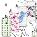 Creative Phone Case for iPhone 7 7 plus Cases Soft Covers Flamingo Lips Pineapple Creative lines Cute Puppy Back Case Fundas
