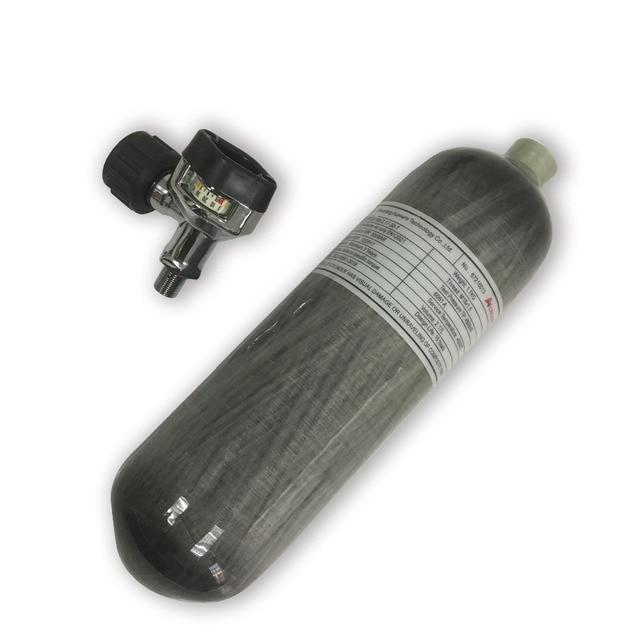 AC1217 Acecare Air comprimé cylindre en Fiber de carbone Airsoft 2.17L 4500Psi avec Valve noire pour fusil à Air comprimé accessoires de pistolet à main