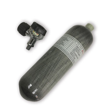 AC1217 Acecare דחוס אוויר פחמן סיבי צילינדר Airsoft 2.17L 4500Psi עם שחור שסתום Airgun רובה יד אקדח אבזרים