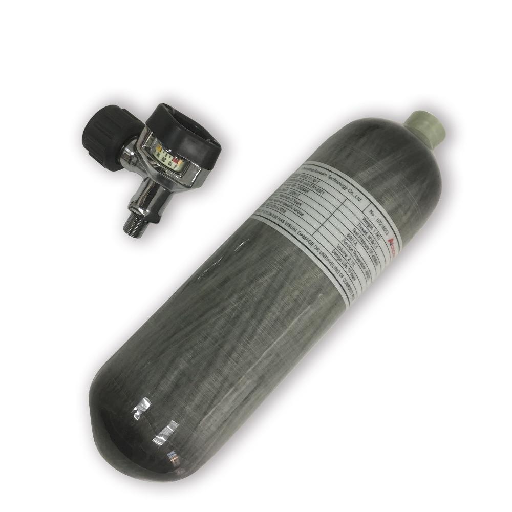 AC1217 сжатый воздух углеродного волокна цилиндр сцепление страйкбол 2.17L 300bar с черным клапаном для пневматическое оружие ручной пистолет аксессуары-in Пейнтбольные аксессуары from Спорт и развлечения