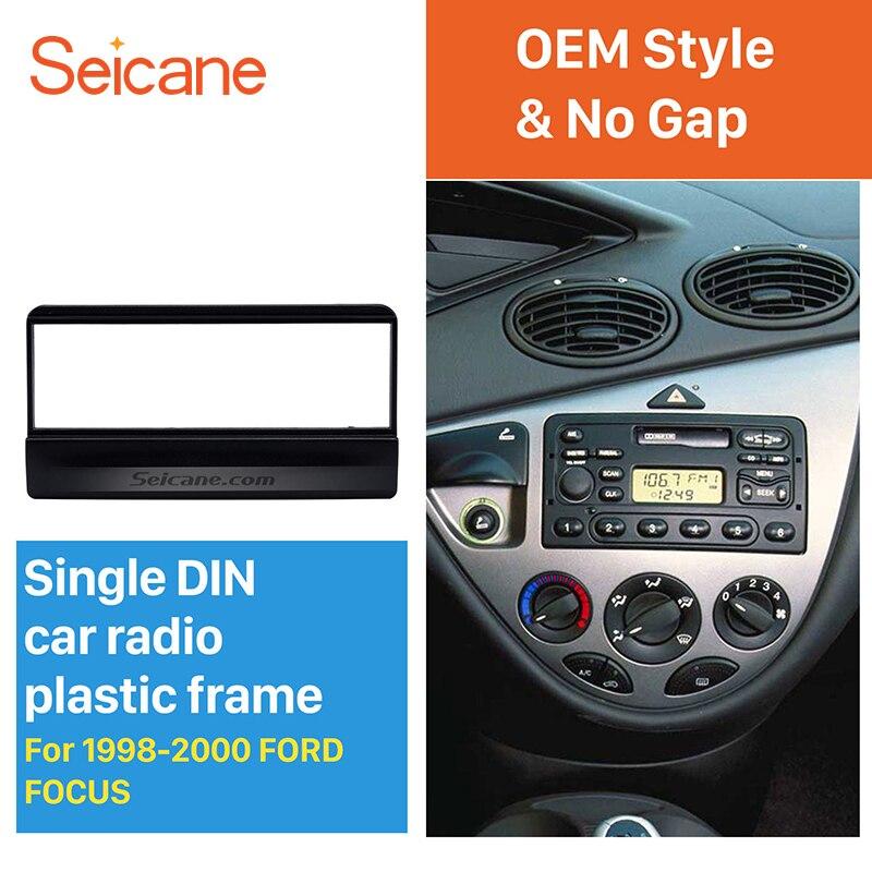 Seicane OEM style 1Din autoradio DVD stéréo Fascia pour 1998 1999 2000 Ford Focus cadre panneau installer dans le Kit de montage au tableau de bord pas d'écart