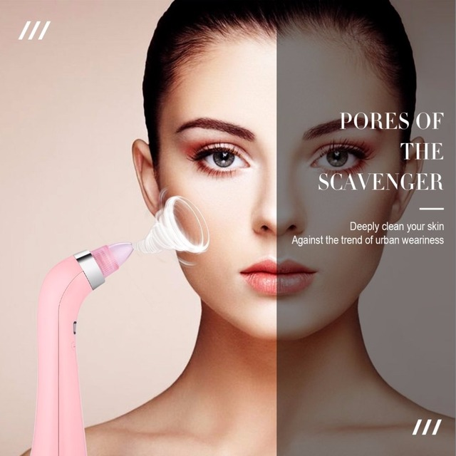 Blackhead Vacuum Pore Cleaner Comedo Suction Smoothing 4 Probes Skin Firming Pore Spot Cleansing SPA Face Skin Care Tools