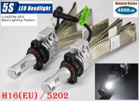 1 Set H16 (UE) 5202 50 W 4000LM 5 S LED Kit Fari LUMILED LUXEON ZES 12LED SMD Chip Fanless 6500 K Guida La Lampada Della Nebbia Lampadina HID Hal