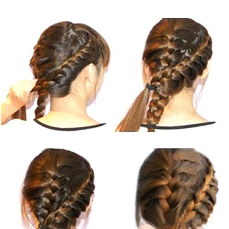 Купить с кэшбэком Newly Arrival Fashion Hair Styling Tools Useful Centipede Braid Device Women Hair Accessories Black