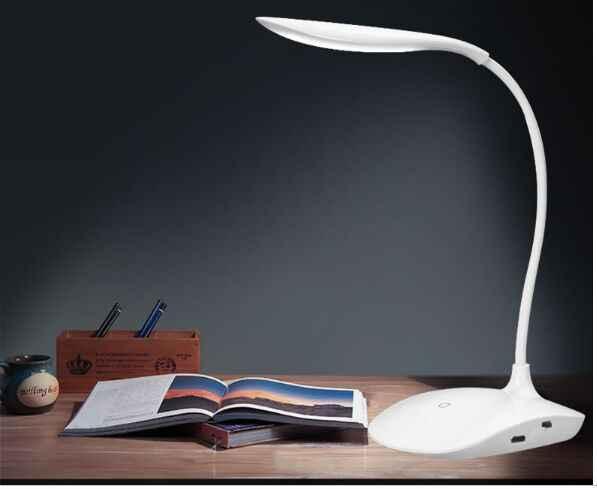 Для защиты глаз, светодиодный складной настольный светильник, заряжаемый USB настольная лампа для детей, лампа для чтения, ночник, Прямая доставка
