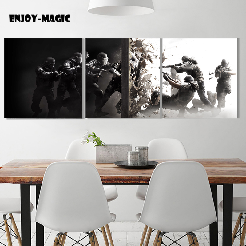 Rainbow Six Siege Game Poster for HD Canvas Poster Decoration Oil Painting Picture Panel Print Decorative Silk Printing 10 06 in Painting Calligraphy from Home Garden