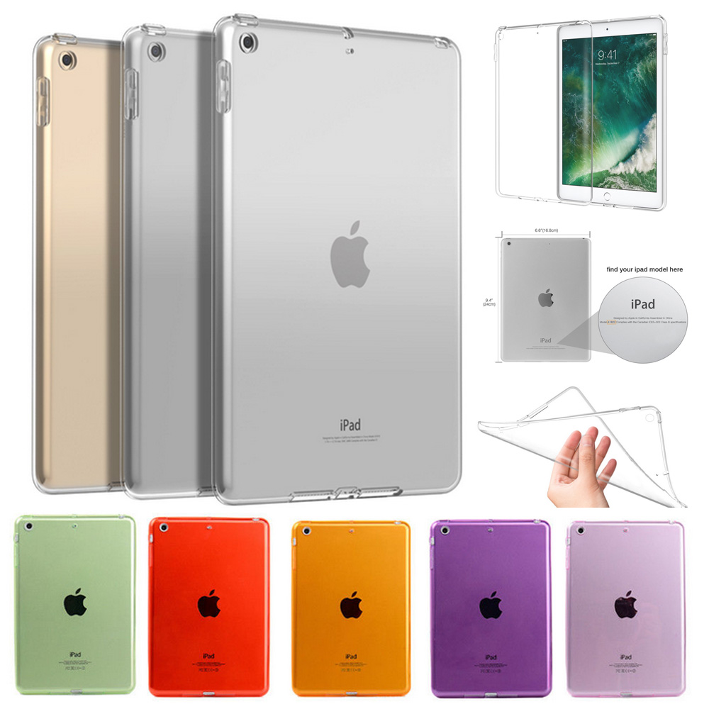 Soft TPU Cover For Apple New iPad 6th 9.7 2018 A1893 A1954 Case Silicone Transparent Case Slim Clear Back Cover nice soft silicone back magnetic smart pu leather case for apple 2017 ipad air 1 cover new slim thin flip tpu protective case