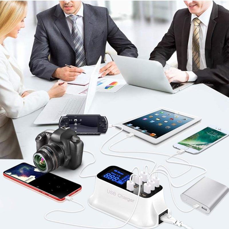 Universal 8 Ports Smart USB Charger Station Hub Led Display charger (20)