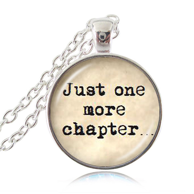 Bookish Reader Jewelry Book Lover Gift Reader Word Bracelet Just One More Chapter Librarian.D0117
