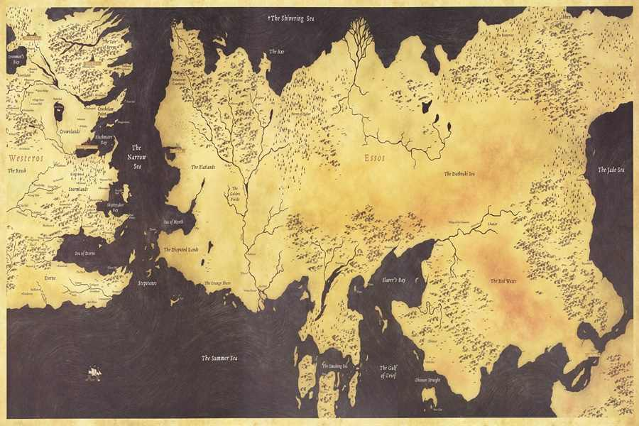 Custom Game of Thrones Map Wallpaper World Map Wall Sticker Westeros Old  Map Vintage BAR PUB Map Stickers Home Decor #PN#2430#