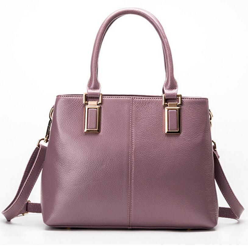 Women's Genuine Leather Hand Bag 2018 New Lady's handbags Female Shoulder Bag Genuine Leather handbag DX18080703 цена