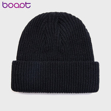 Winter Knitted Skullcap Adult Casual Hip Hop Hat Women Men Acrylic Beanie Cap Unisex Solid Color Keep Warm Elastic Hats 12 Color