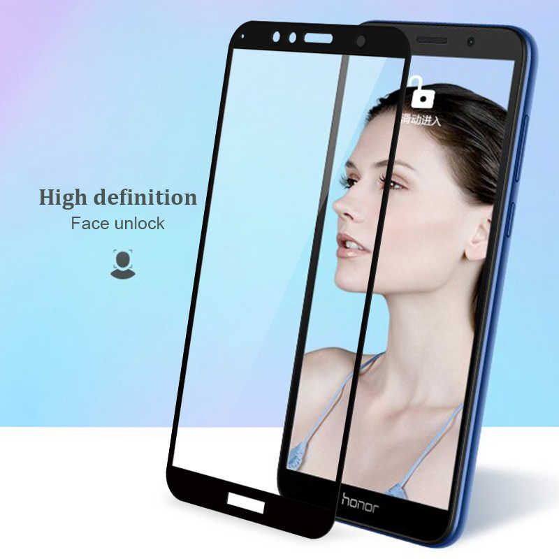 Tempered Glass For Huawei Honor 7A Pro 7 A 7A 5.45 Glass For Honor 7C 7C Pro 7X Full Cover Screen Protector Safety Guard 9H Film