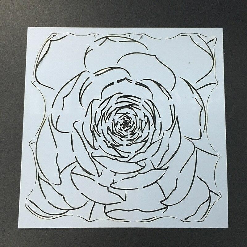 Peony Pvc Layering Stencils For DIY Scrapbooking/photo Album Decorative Embossing DIY Paper Cards Crafts