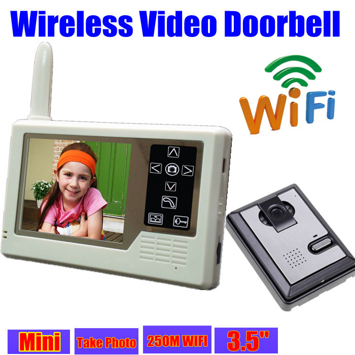 wireless video door phone intercom wifi doorbell ir. Black Bedroom Furniture Sets. Home Design Ideas