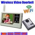 wireless video door phone intercom wifi Doorbell IR Nightvision Camera video door bell Monitor home surveillance system