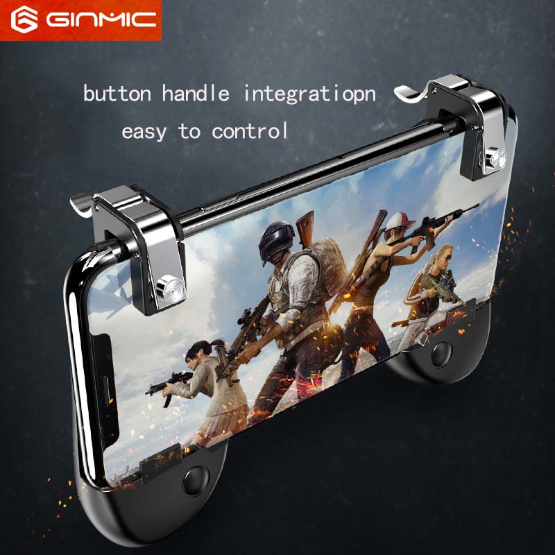 Mobile Game Fire Button Aim Key Smart phone Mobile Game Trigger L1R1 Shooter Controller button with handle integration for PUBG