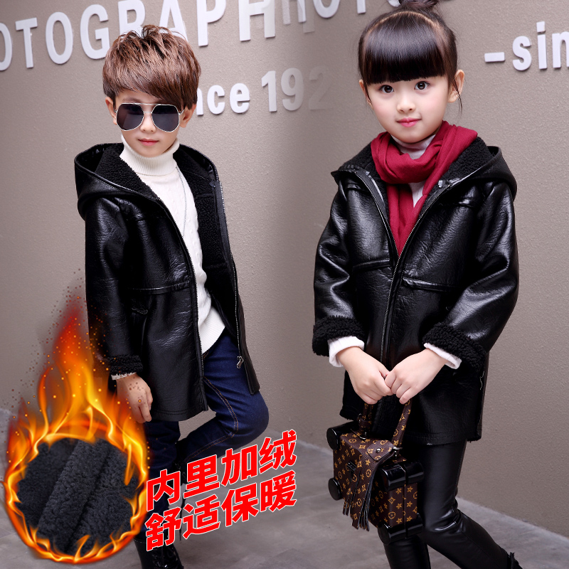 Berryinpaw New Spring Autumn Winter Boys Jackets 2018 Girls Outwear Fashion Children PU Leather Kids Jackets Girls Coats Jackets new spring teenagers kids clothes pu leather girls jackets children outwear for baby girls boys zipper clothing coats costume page 1