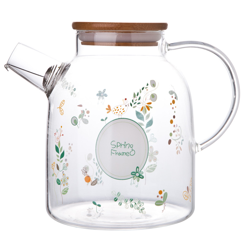 Creative Large Capacity Jug Glass Water Pot Cup Set Thicker Resistant Drink Teapot With Filter Household Glass Cold Pot