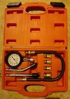 2pcs New Petrol Engine Compression Tester Cylinder Pressure Compressor Detect Gauge Meter Test Leakage Tool Set