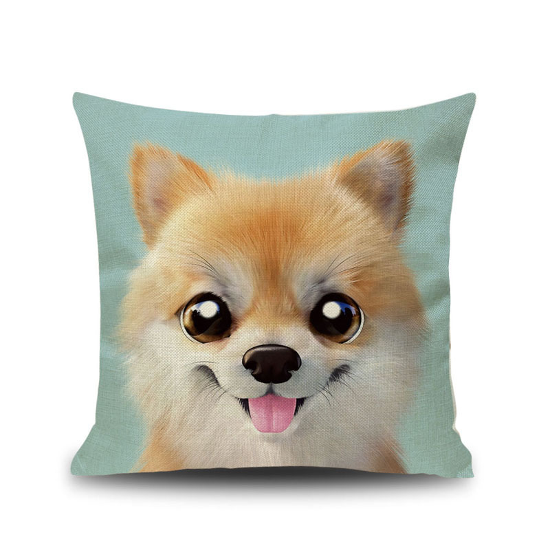 Love cute pet Corgi dogs animals Sofa shop chair Cushion Cover colorful pillow case home Decorations for children lovely gift