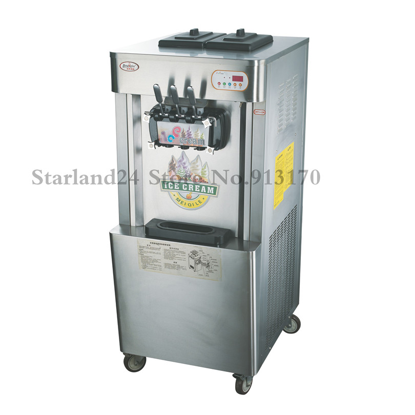 цена на Stainless Steel Ice Cream Machine CE Approval Commercial Soft Serve Ice Cream Machine Vertical Type 220V 22~55liters/H Output