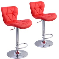 2 PC Factory Bar Stool PU Leather Barstools Chairs Adjustable Counter Swivel Pub Style New Living