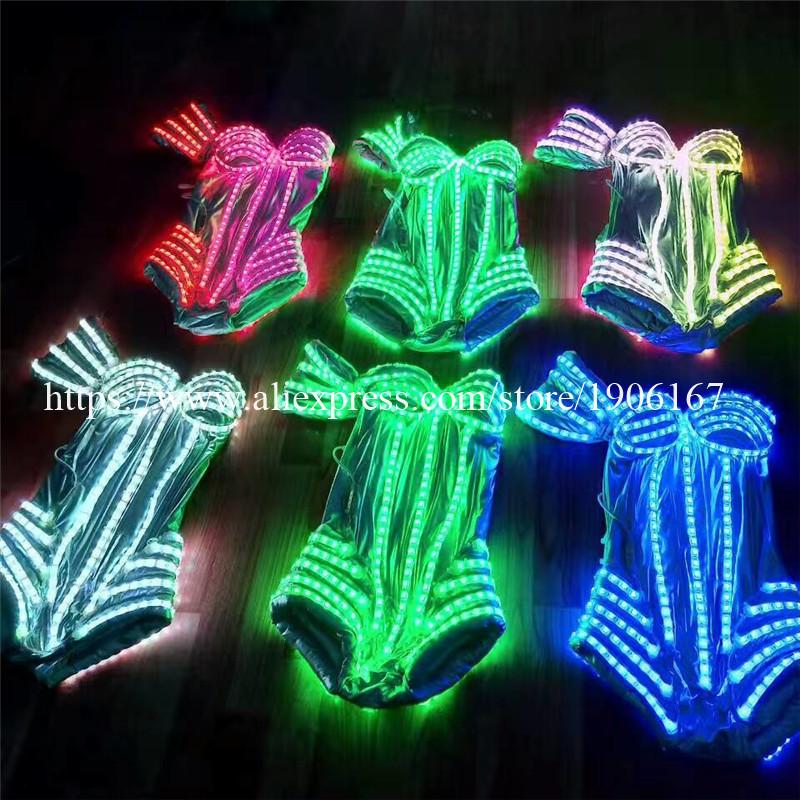 New Performance Prop Women Dance Accessories Girls DJ LED costumes Light Up Costume 03