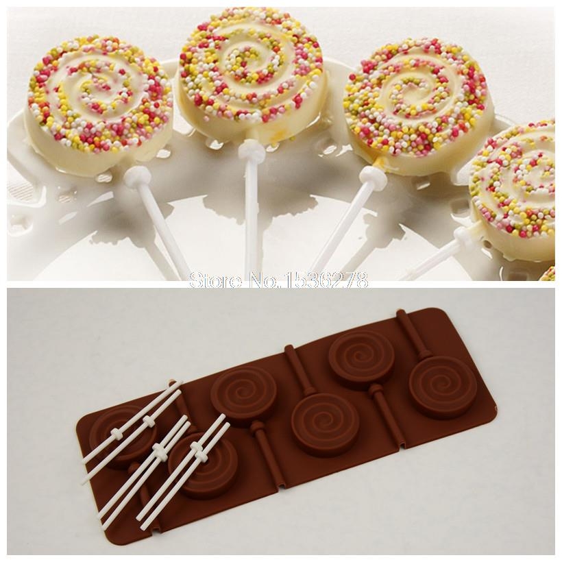Chocolate Chunks Dunmore Candy Kitchen: Silicone Chocolate Lollipop Mold DIY Circle Candy Mould