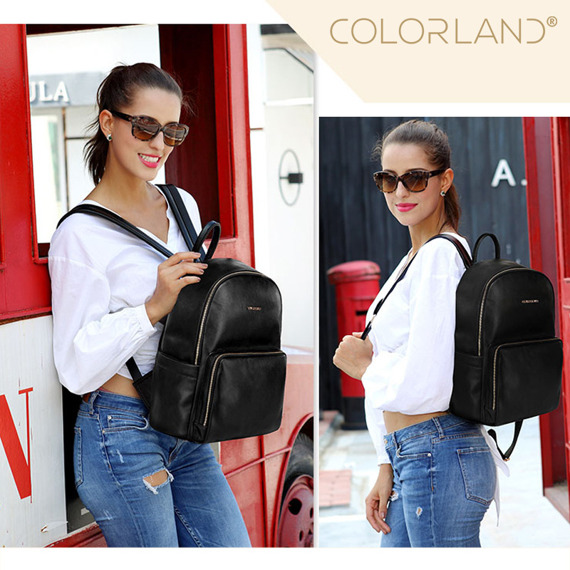 Colorland Leather Backpack Baby Diaper Bag Nappy Bags Maternity Mommy Changing Bag Wet Infant For Babies Care OrganizerColorland Leather Backpack Baby Diaper Bag Nappy Bags Maternity Mommy Changing Bag Wet Infant For Babies Care Organizer