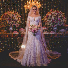 Lisong Gorgeous Mermaid Wedding Dress Full Long Sleeve