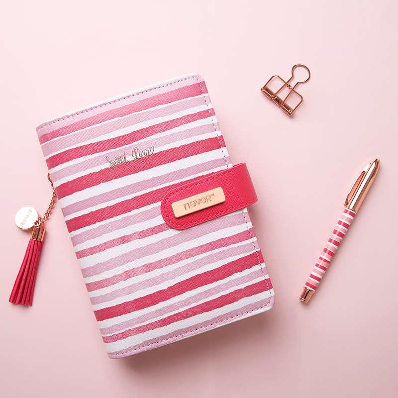 Nover канцелярские принадлежности розовая линия спиральная записная книжка 2019, органайзер, A6 планировщик, личный дневник, офисные и школьные ...