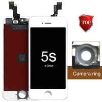 10pcs AAA Quality No Dead Pixel LCD Assembly For IPhone 5S Replacement 100 Tested Camera Holder