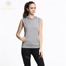 Hello Anthena Women's Sports Sleeveless Hoodie Sweatshirt Polyester/Spandex Workout Durable Pullover Vest Fitness Running Yoga