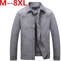 9XL 8XL 7XL 6XL 5XL Frühling Herbst Mann Freizeitjacke Mode dünne Stepp mantel Anzug Stehen Kragen Business stil für männer