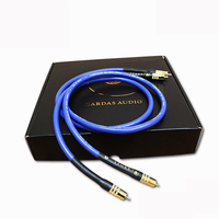 Free Shipping 3 Meter Lot Cardas Clear Light Interconnect Audio RCA Cable Without Box