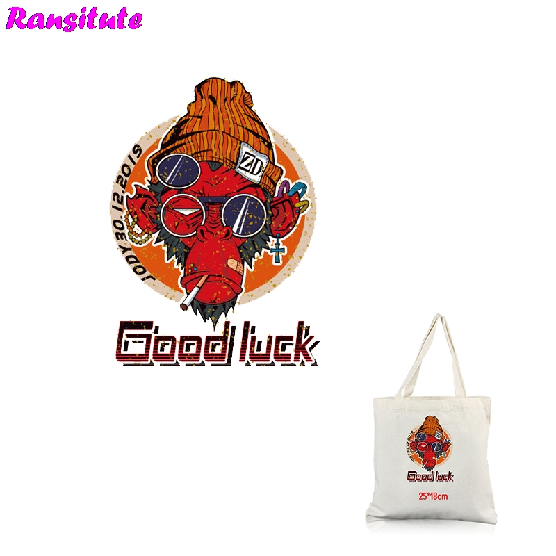Ransitute R319 Monkey Heat Transfer Washable Heat Transfer Cool Children's Backpack DIY Applique Decorative Badge