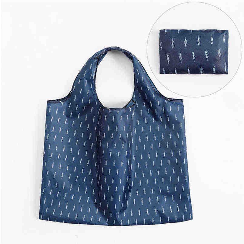 Cartoon shopping bag folding green bag polyester large transparent bag wardrobe organizer zip lock plastic bags cosmetics @12