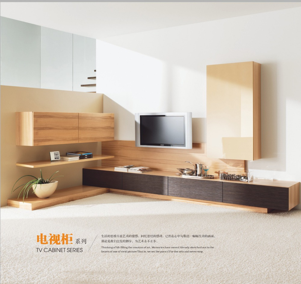 Tv cabinet combination wall creative fashion tv cabinet for Simple living room furniture