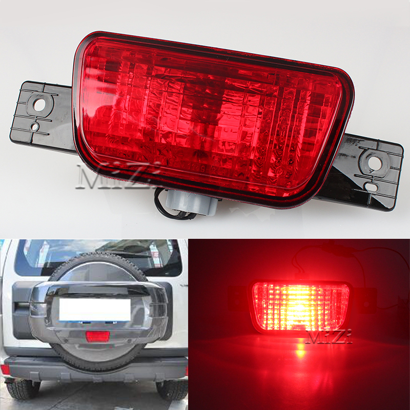 Rear Spare Tire Cover Fog LampTail Bumper Light Fit for Mitsubishi Pajero Shogun 2007 2008 2009 2010 2011 2012 2013 2014 2015 rear fog lamp spare tire cover tail bumper light fit for mitsubishi pajero shogun v87 v93 v97 2007 2008 2009 2010 2011 2012 2015