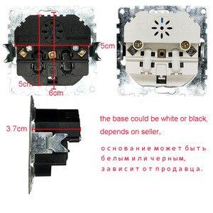 Image 5 - Podwójne usb portów i ściany elektryczne gniazdo usb darmowa wysyłka przejściówka do ładowarki ue socket5 V 2A, przełącznik zasilania stacja dokująca do ładowania EP 19