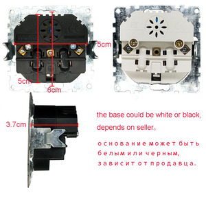 Image 5 - כפול USB יציאות חשמלי קיר שקע USB משלוח חינם מטען מתאם האיחוד האירופי socket5 V 2A, מתג כוח dock טעינה EP 19