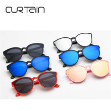 CURTAIN 2019 Hot Children Sunglasses New Fashion Square Kids Sunglasses Boy Girl Square Goggles Baby Travel Glasses UV400 Gift(China)