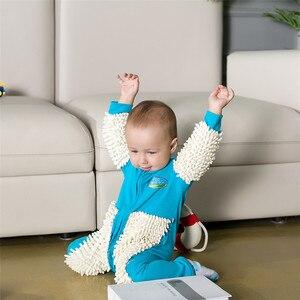 Baby jumpsuit one-piece mop suit baby onesies romper children's clothing zipper(China)
