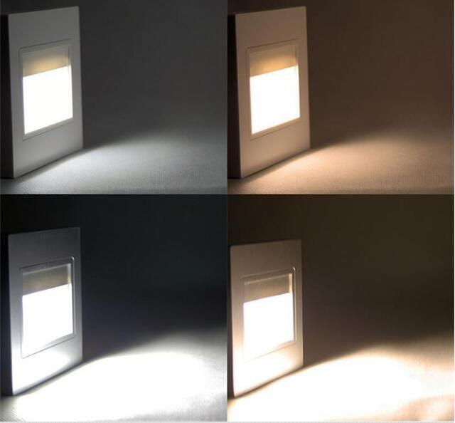 Iluminaci n empotrada escalera luz pared l mpara pir sensor de movimiento led infrarrojo pared - Iluminacion led escaleras ...