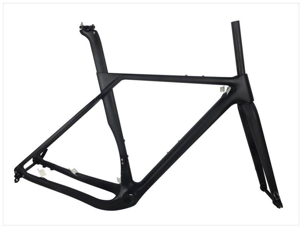 Cheap Spcycle 2019 New Aero Carbon Cyclocross Gravel Bike Frame And Wheelset T1000 Carbon Disc Brake Road Bike Frameset 49/52/54/56cm 3